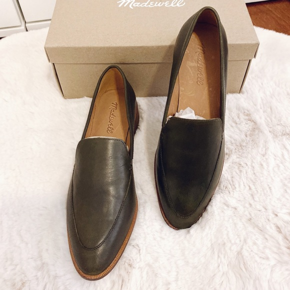 Nwt Madewell Frances Loafer Dried Olive